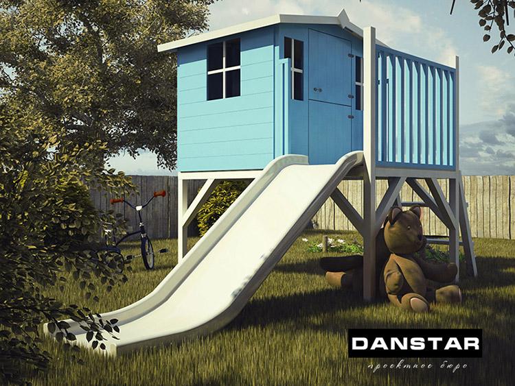 Детский домик конструктив