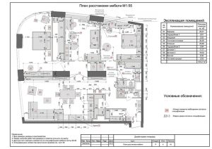 План расстановки мебели - чертежи дизайн проекта