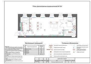 План расположения выключателей - чертежи дизайн проекта
